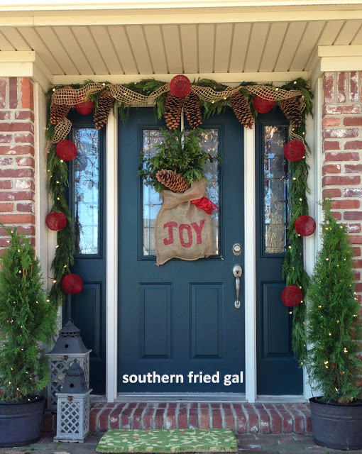 Christmas door 2012 southern fried gal for 12 days of christmas door decoration